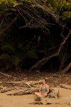 Meditation on a wild beach, Playa Hermosa, Costa Rica