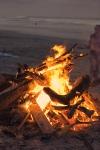 Bonfire on beach, Playa Hermosa, Costa Rica
